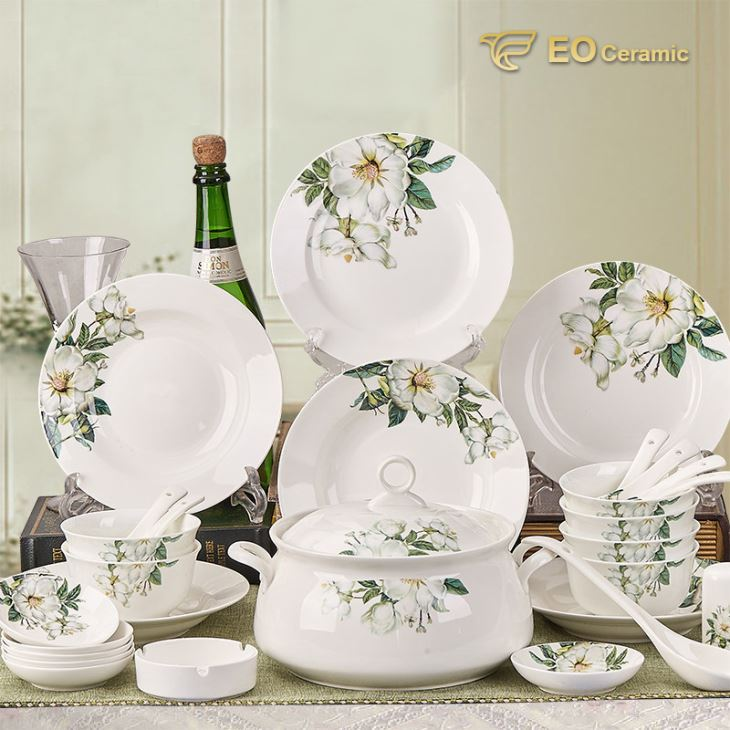 Country Style Ceramic Dinnerware Set : country style dinnerware sets - pezcame.com
